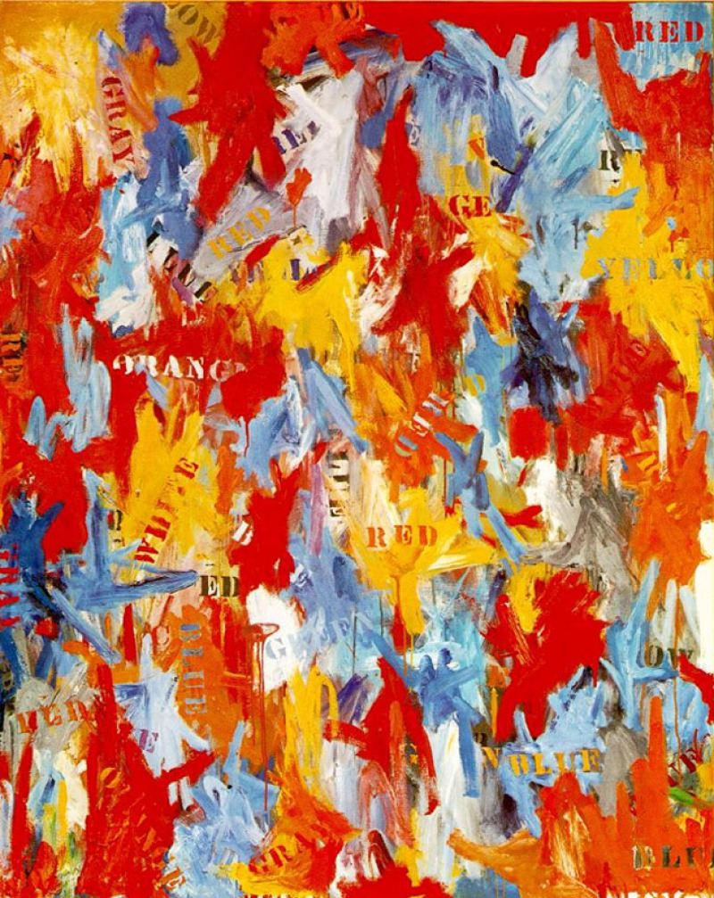 False Art, 1959 by Jasper Johns ( Million)-15 Ridiculous Paintings Sold For Millions Of Dollars