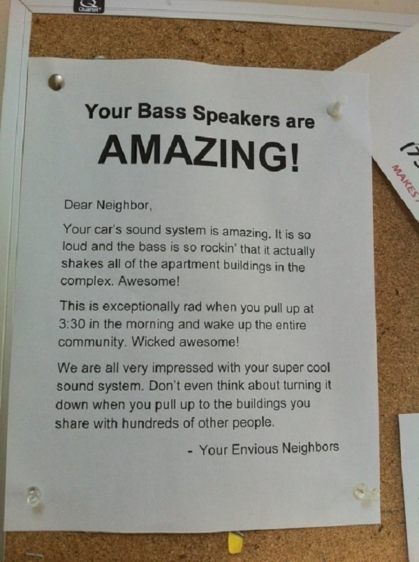 These Envious Neighbors-15 Aggressive Notes Left For Stupid Neighbors