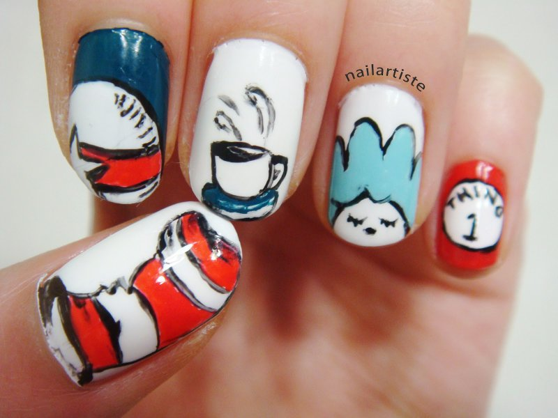Dr. Seuss Nail Art-15 Amazing Nail Arts That You Must Try Once In Your Life