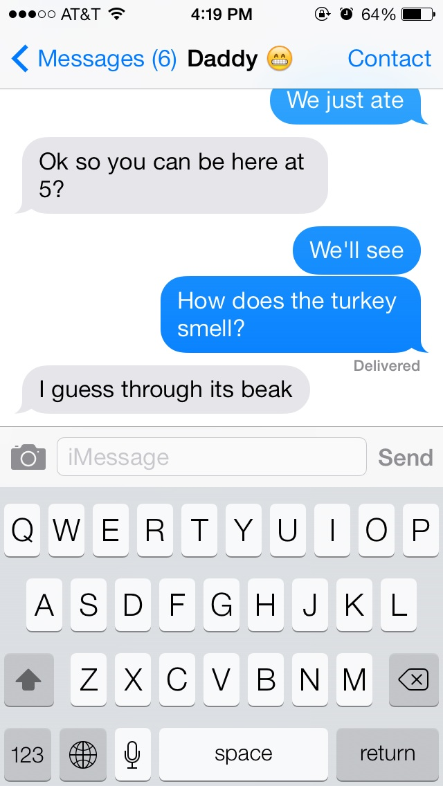 How Does the Turkey Smell?-15 Hilarious Texts From Parents That Will Make You Cry Then Laugh