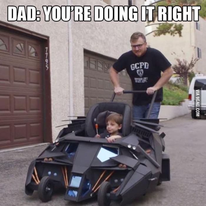 Dad Builds Batmobile like Wheelchair for Disabled Kid-15 Awesome Dads Who Are Nailing The Father Thing