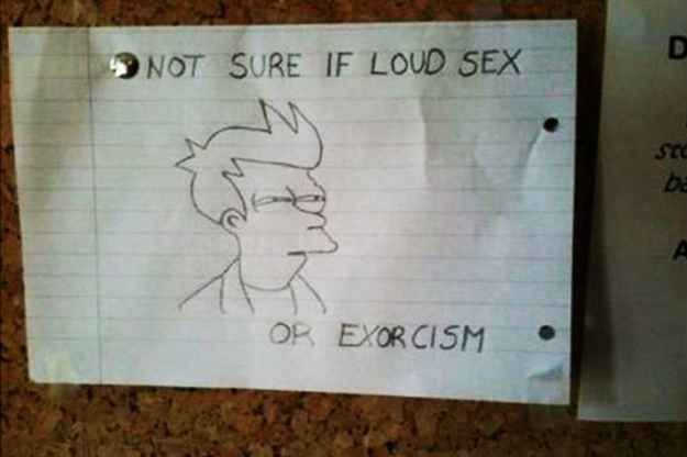 Some Neighbors Really Make it Sound Like Exorcism-15 Funniest Notes Ever Left For Neighbors Having Sex Very Loud