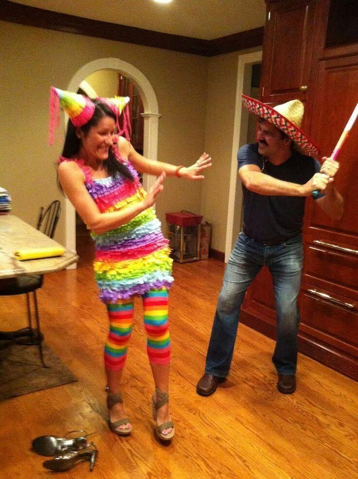 Pinata Costume-Fifteen Halloween Couple Costumes That Are Super Amazing