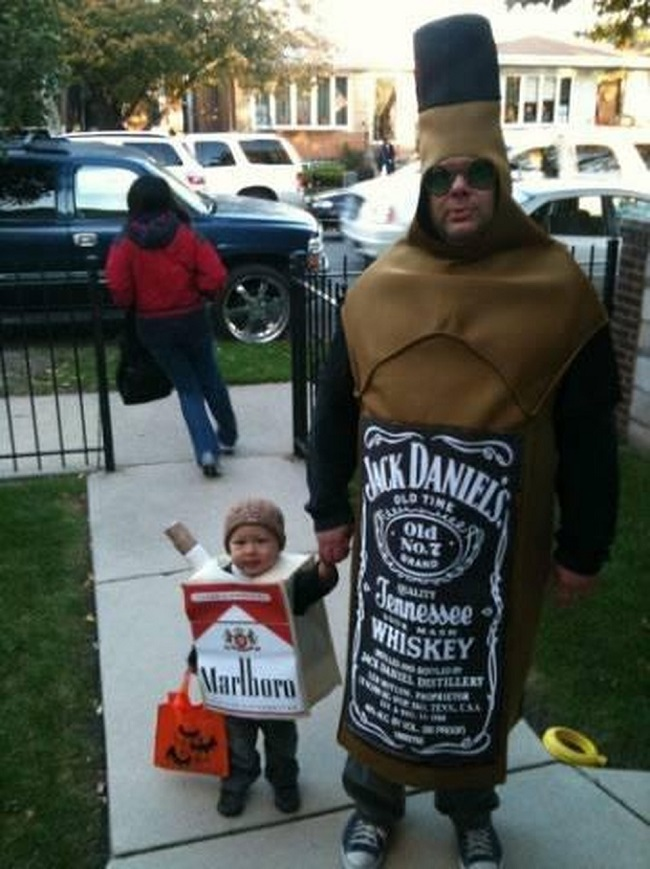 This Liver Cancer and Lung Cancer Costume-15 Disgusting Kids Halloween Costumes Ever