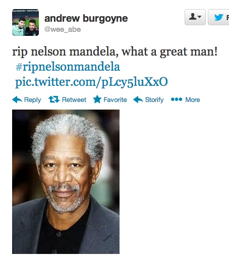 When Someone Can't Differentiate Between Nelson Mandela and Morgan Freeman-15 Dumbest Tweets Ever