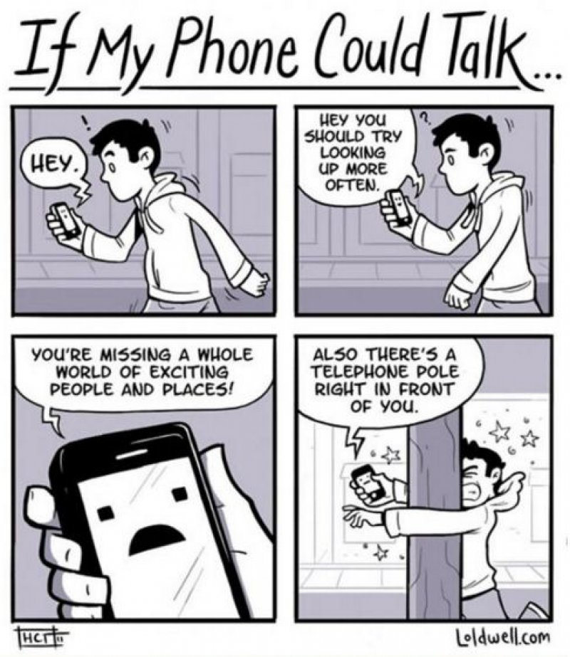 We Just Can't Stop Ourselves from Looking Into it-15 Comics That Show How Smartphones Have Ruined Our Lives