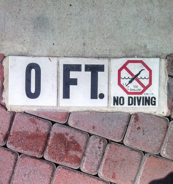 Another Swimming Pool Masterpiece-15 Signs That Are Too Dumb To Digest