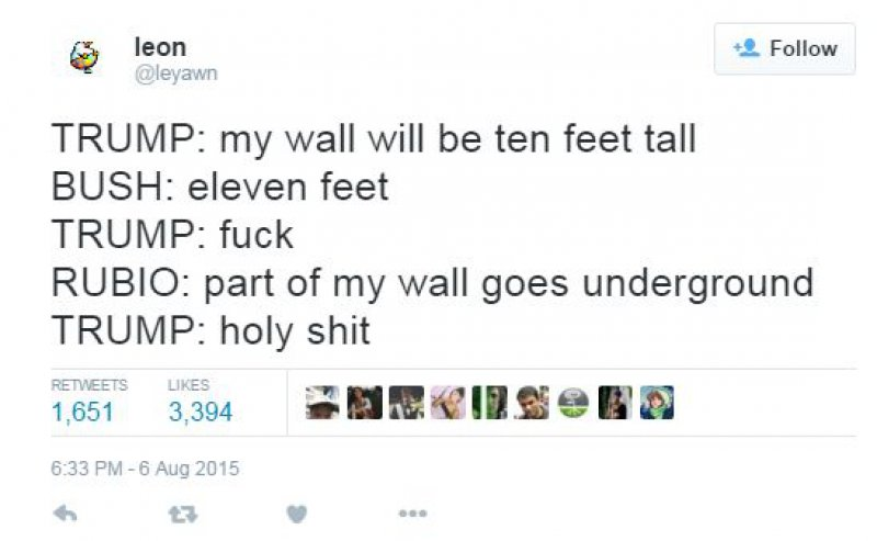 People's Reaction to His Border Wall Proposal -15 Hilarious Tweets About Donald Trump Sure To Make You Laugh