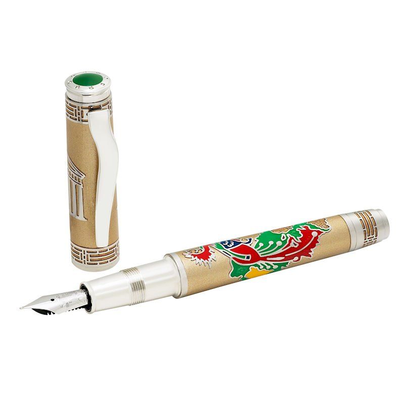 Omas Phoenix Platinum Fountain Pen With Diamonds - ,000-12 Most Expensive Pens In The World