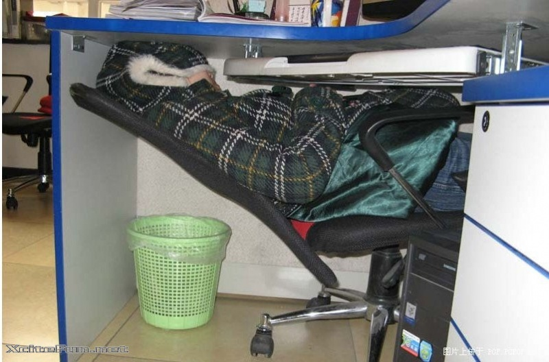 This Guy Who Was Sleeping Under Cubicle 15 People Were Taking A Quick