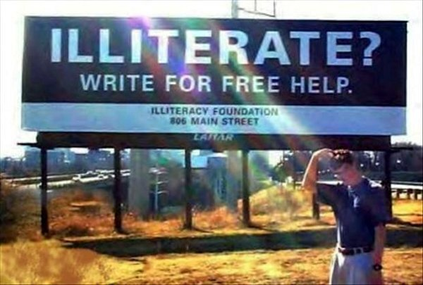 Write for Free Help-15 Images That Show Irony In This World