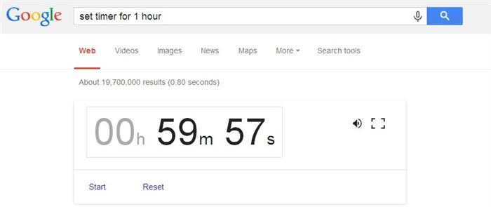 Set Timer-15 Google Hacks That Make Your Life Simpler