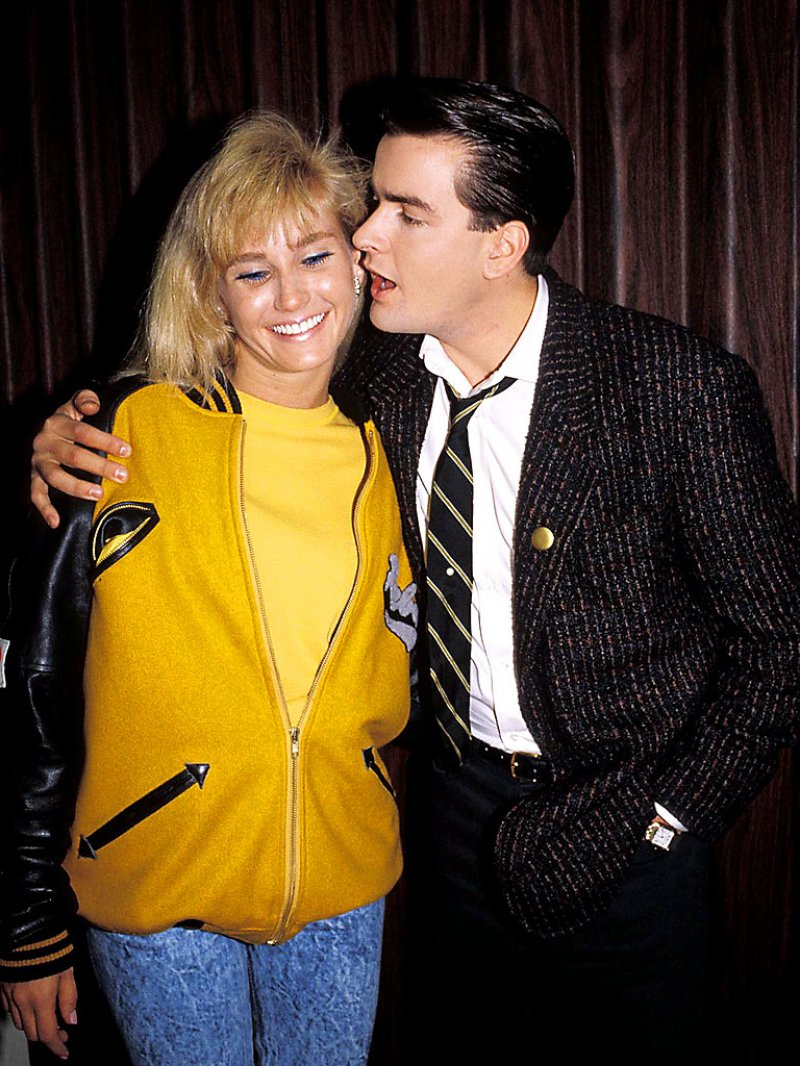 Charlie Sheen And Ginger Lynn-Charlie Sheen And His 13 Well Known Girlfriends