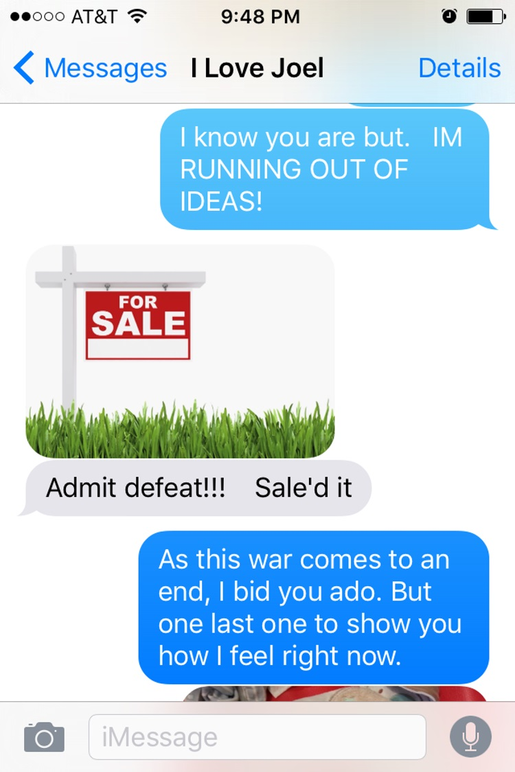 Trailed it-15 Hilarious Images Of A Couple's Pun Texting
