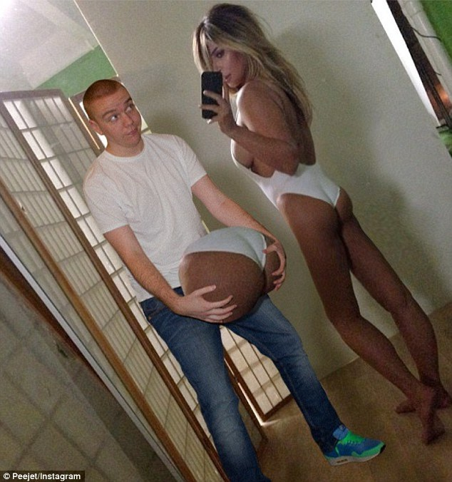 The butt of all jokes-Man Photoshops Himself With Famous Celebrities