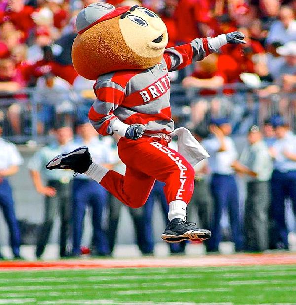 Ohio State - Brutus The Buckeye-Strangest College Mascots