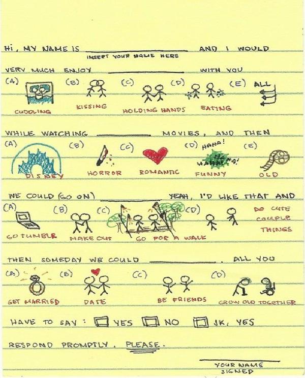 Multiple Choice-Weird Love Notes