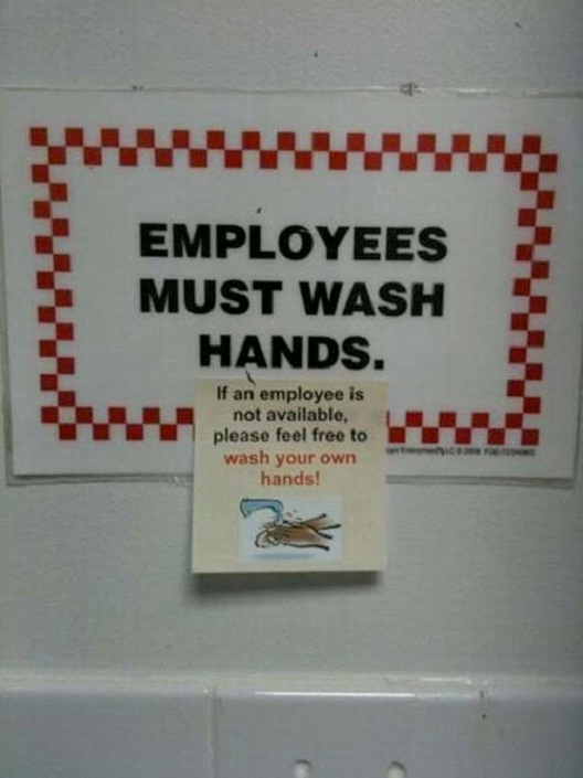 Employees Must Wash Hands-12 Smart And Witty Replies To Written Notes