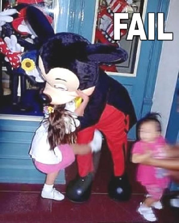 Kick him!!-Disneyland Fails
