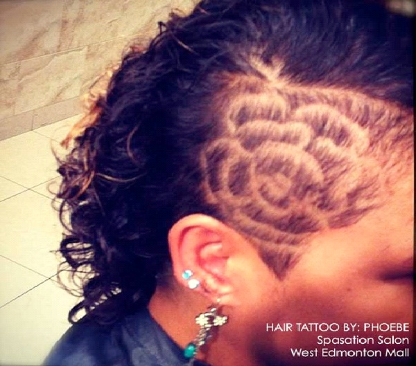 Pretty Petals-Awesome Hair Tattoos