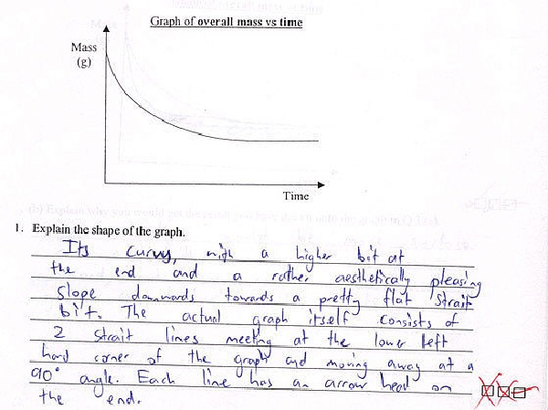 You wanted a description-Funny Exam Answers