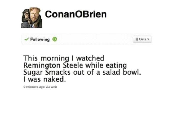 Conan O'Brien-Funny Celeb Tweets