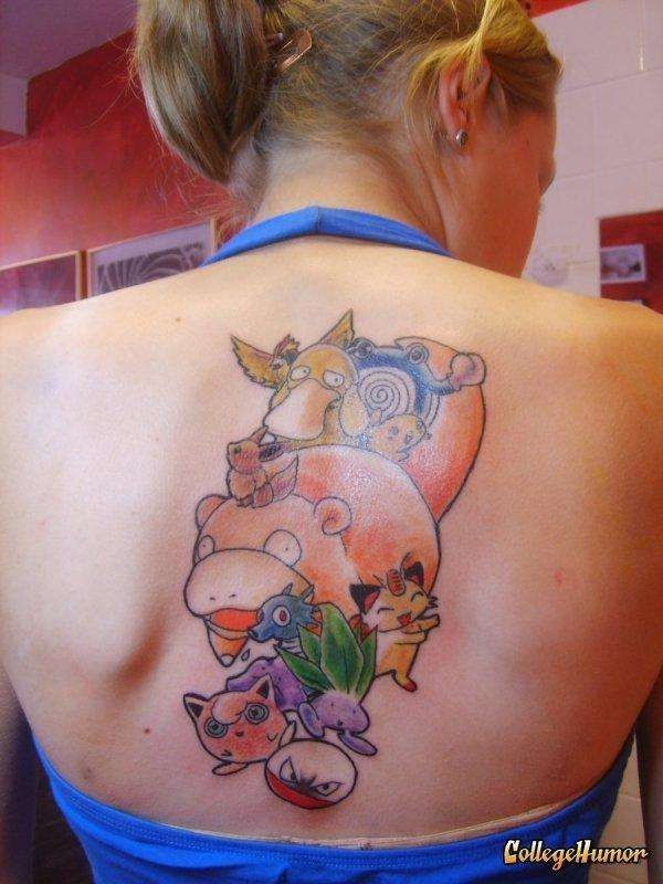 Pokemon-Sexiest Video Game Tattoos