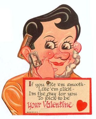Have a shave-Creepy Valentine's Day Cards