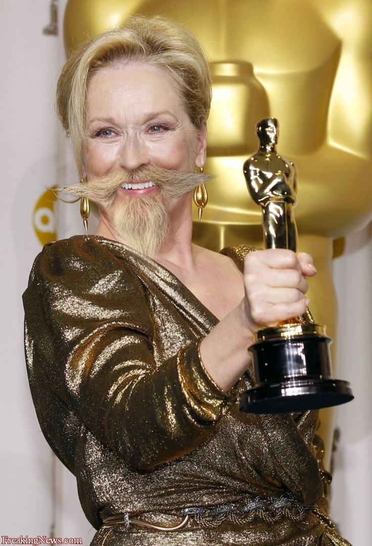 Meryl Streep-24 Hilarious Female Celebrities With Beard Photos