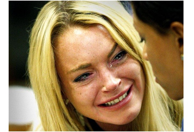 Lindsay Lohan-Ugly Celeb Cry Faces