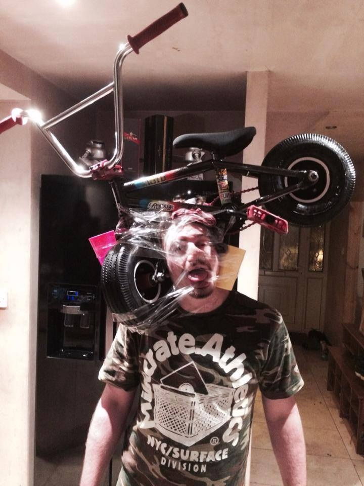 You are supposed to pedal it-Sellotape Selfies