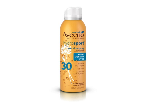 Aveeno Hydrosport Spray SPF 30-Best Sun Care Products