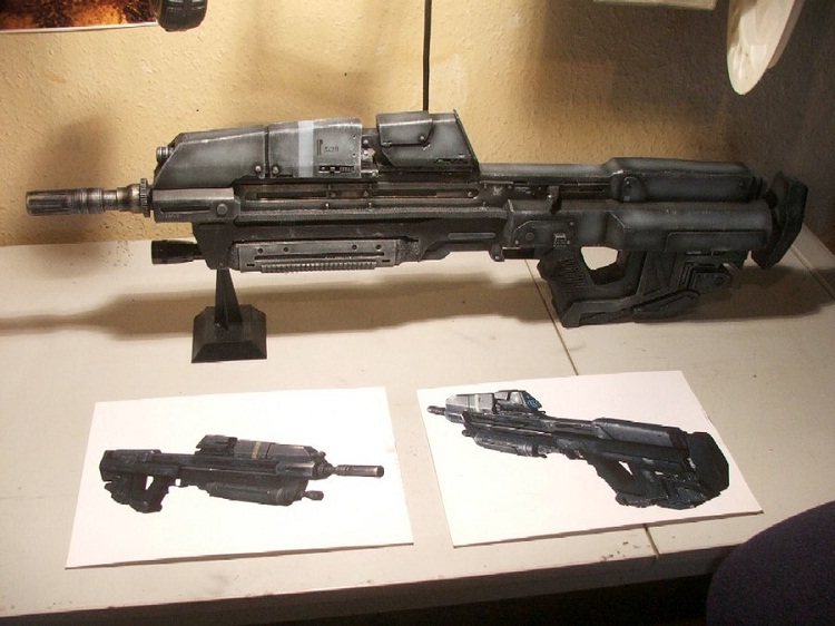 Halo MA37 assault rifle-Virtual World Weapons In Reality