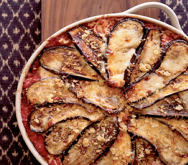 Eggplant Parmesan With Crisp Bread Crumb Topping-Christmas Recipes