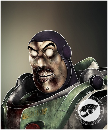 Buzz Lightyear Zombie-Zombified Faces Of Famous Cartoons