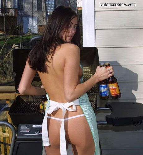 Yes she has some beer-Best