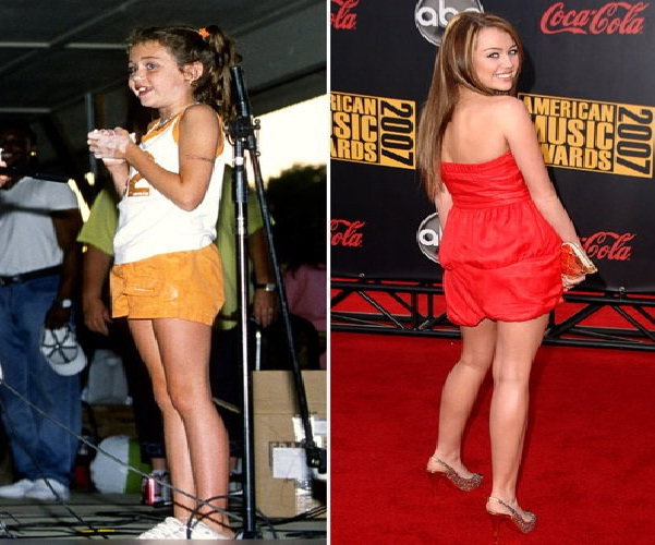 Miley Cyrus-12 Celebrities Who Looked Ugly When They Were Kids