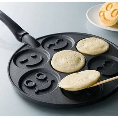 Happy pancakes-Inventions That Make Breakfast Fun
