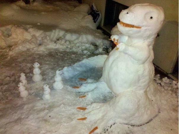 Rawr!!!-Craziest Snowmen Ever