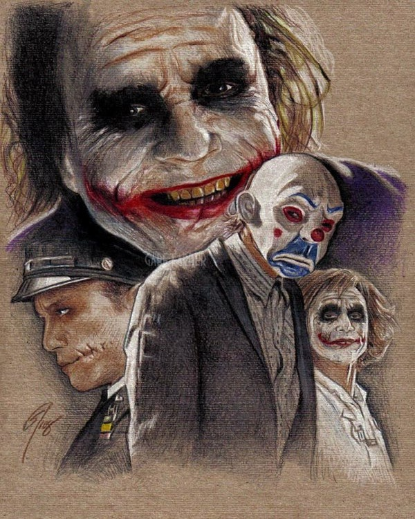 Characters-15 Best Joker Drawings That Give You Nightmares