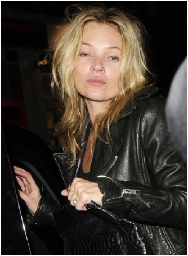 Kate Moss-Celebrities Who Don't Wear Makeup