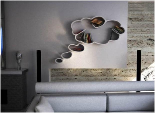 Thought Bubble Bookshelf-Coolest Bookshelves
