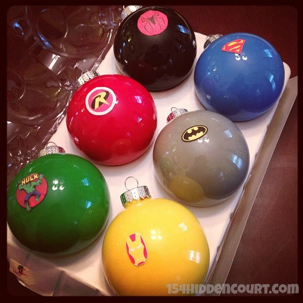 Superhero ornaments-Geeky Christmas Decorations
