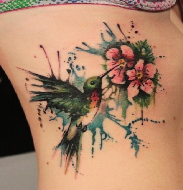 Humma Humma Hummingbird-Amazing Watercolor Painting Tattoos