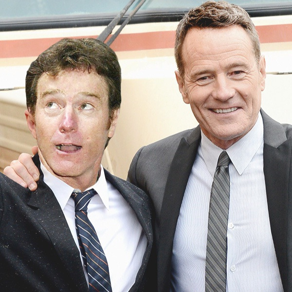 Bryan Cranston-15 Celebrities Posing With Younger Versions Of Themselves