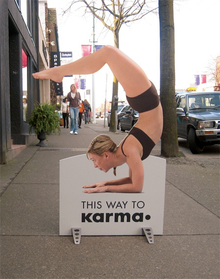 Point the way-Creative Fitness And Yoga Ads
