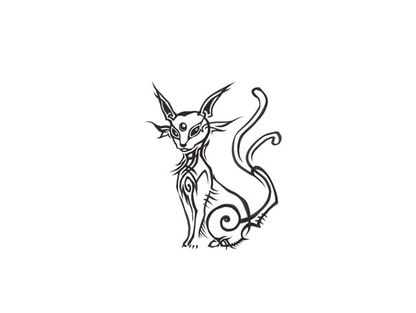 Pokemon Cat Tattoo Design-Cat Tattoos Designs