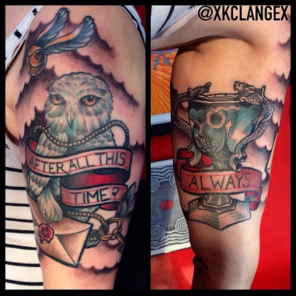 A gorgeous tattoo-Best Harry Potter Tattoos