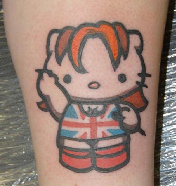 British Kitty-Craziest Hello Kitty Tattoos