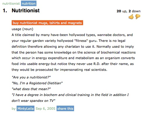 Avoid the nutritionist-12 Funniest Definitions Found On Urban Dictionary